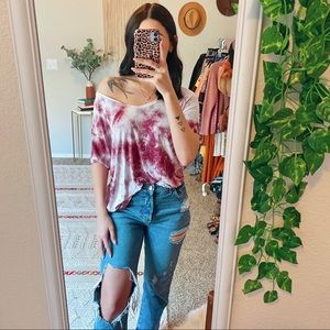 American Eagle Oversized Soft & Sexy Tie Dye Tee